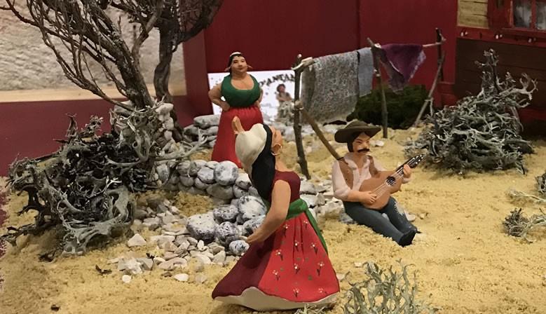 Les bohemiens sur la place du village